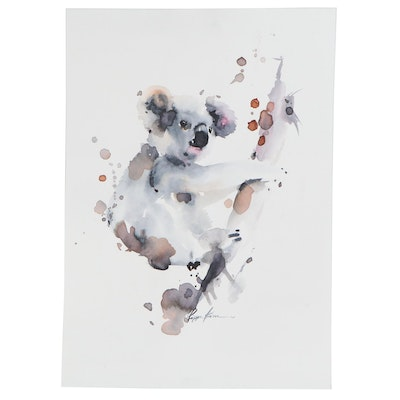 Pippa Kim Watercolor Painting of Koala, 2020