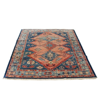 6'1 x 7'7 Hand-Knotted Turkish Azari Village Rug, 1990s