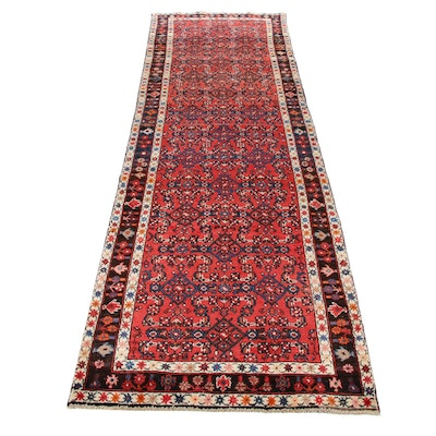 3'4 x 11'6 Hand-Knotted Persian Mahal Runner, 1970s