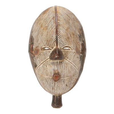 Central African Carved Wooden Mask