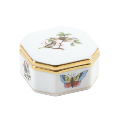 "Herend ""Rothschild Bird"" Porcelain Trinket Box"