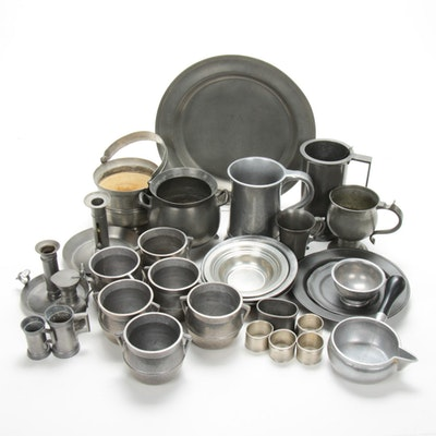 Wilton Soup Bowls and Other Pewter Dinnerware