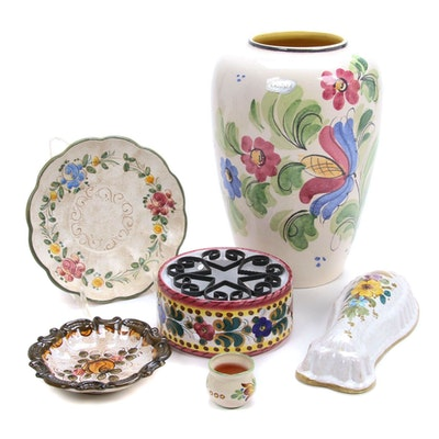 Scheurich German and Italian Hand-Painted Pottery