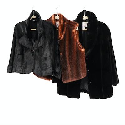 Mondi Sports and Ellen Tracy Faux Fur Winter Vest, Coat and Blazer
