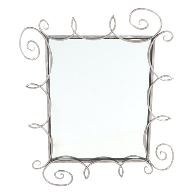 Contemporary Curling Metal Framed Wall Mirror