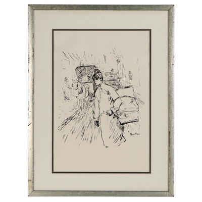 "Serigraph after Henri de Toulouse-Lautrec ""Blanchisseuse Traversant une Rue"""