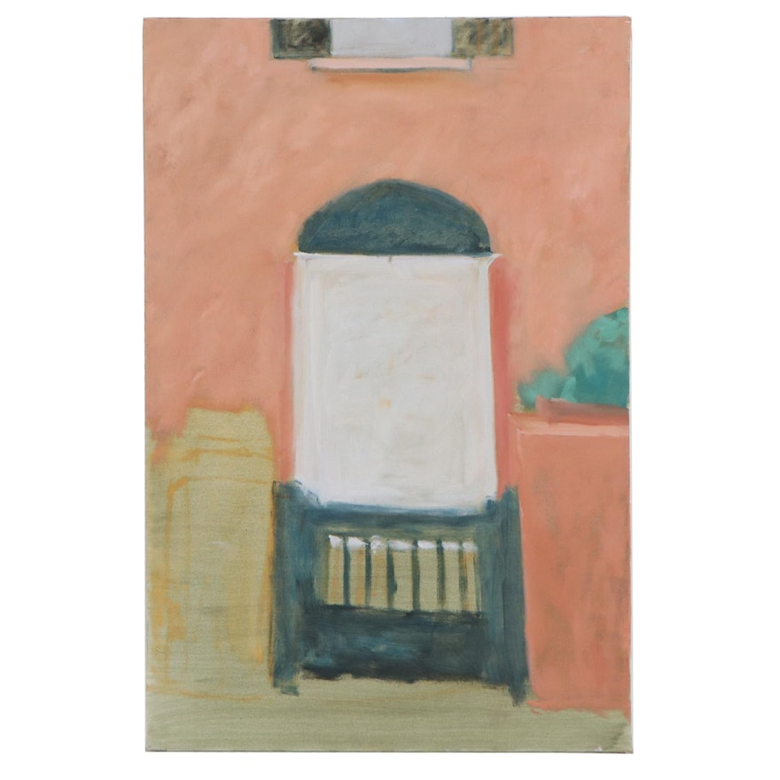 Charles Vance Brand Oil Painting of Entrance, 21st Century