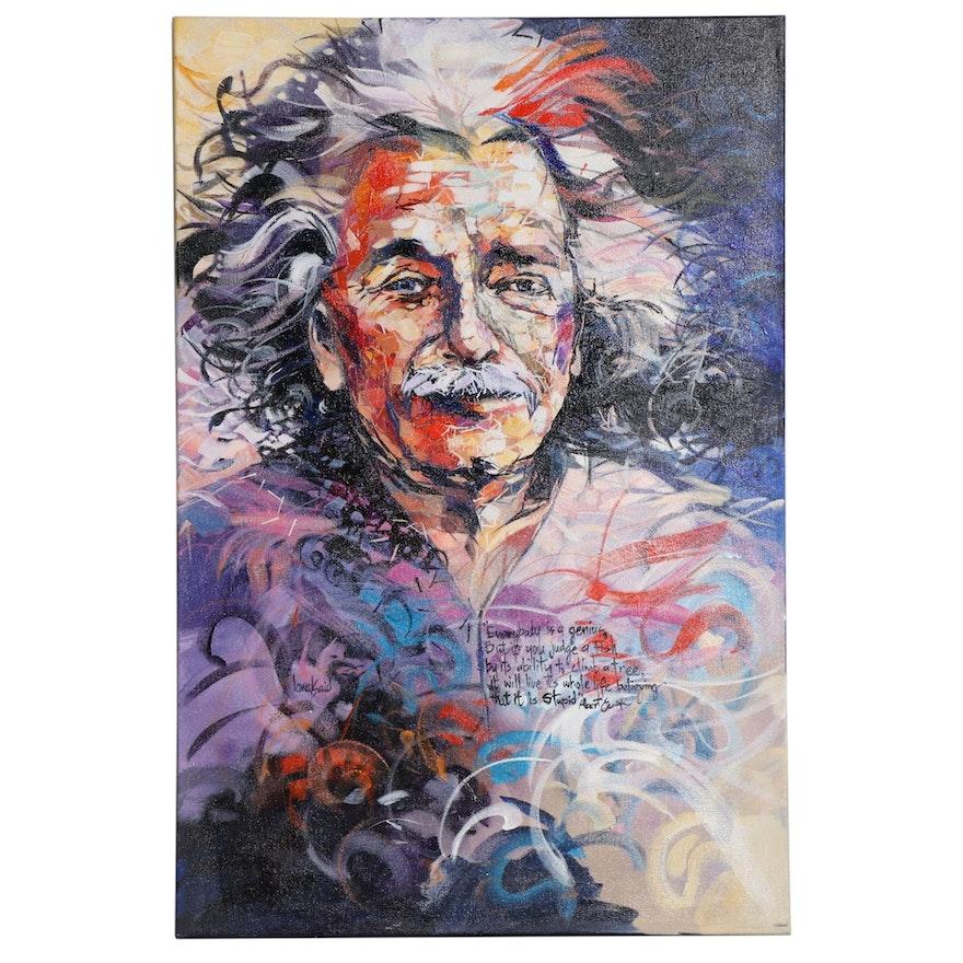 "Said Oladejo-lawal Acrylic Painting ""Genius"""