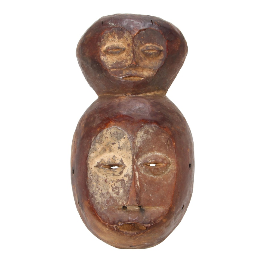 Lega Style Wooden Double-Faced Mask, Democratic Republic of the Congo
