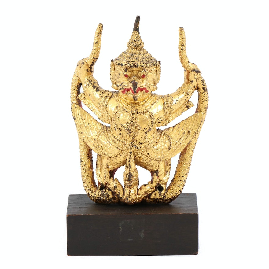 Gilt and Hand-Painting Bronze Sculpture of Garuda