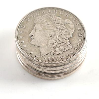1921 and 1921-S Morgan Silver Dollars