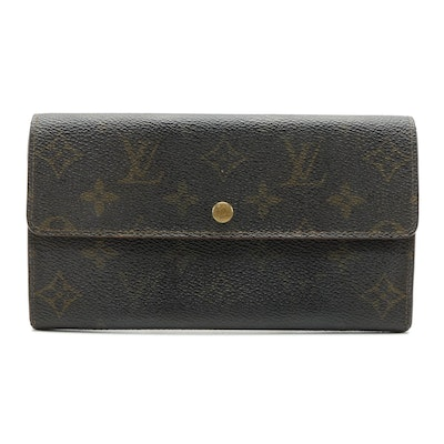 Louis Vuitton Sarah Wallet in Monogram Coated Canvas
