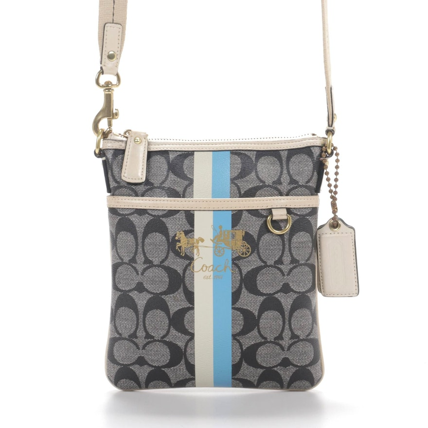 Coach Crossbody Bag in Signature Coated Canvas and Leather