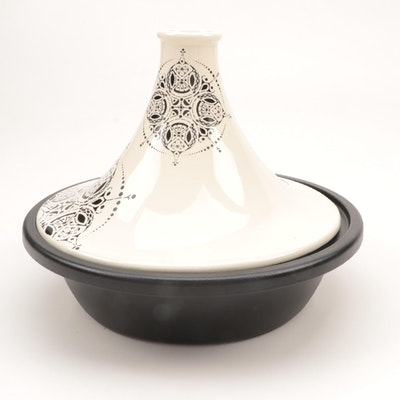 Le Creuset Cream Stoneware and Cast Iron Spice Tagine