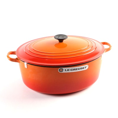 Le Creuset Flame Enameled Cast Iron 15.5 Quart Dutch Oven