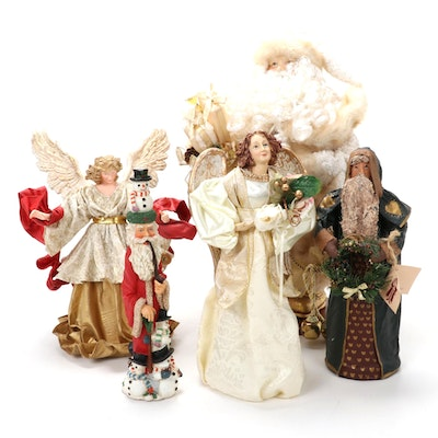 Possible Dreams Ltd. and Other Santa and Angel Figurines and Tree Toppers