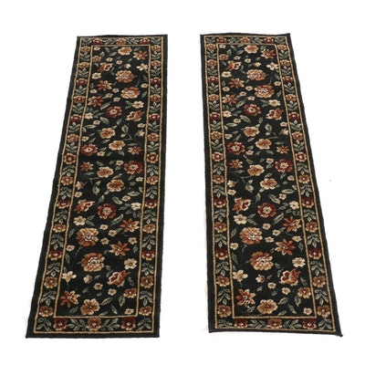 2' x 7' Machine-Loomed Floral Wool Runners, Pair