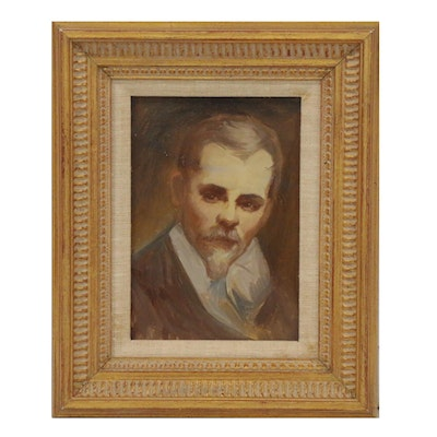 Portrait Oil Painting of Annibale Carracci, Mid-20th Century