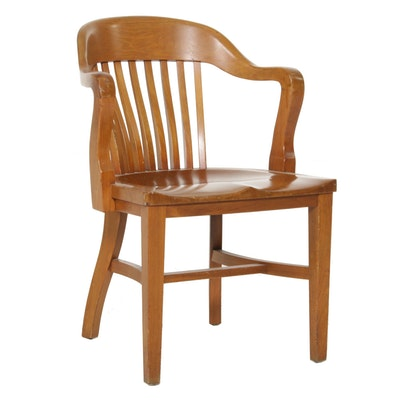 B.L. Marble Chair Company Maple Desk Chair, Early to Mid-20th Century