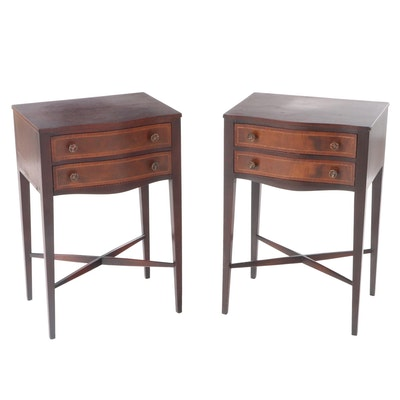Federal Style Mahogany and Walnut Side Tables, Early 20th Century