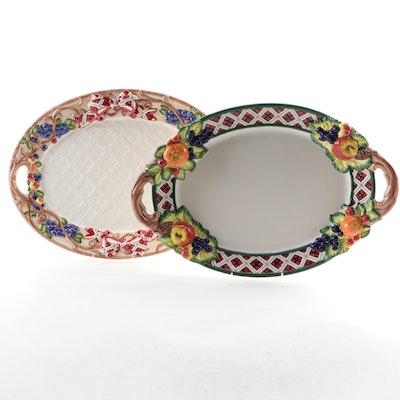 """Noritake Ceramic """"Royal Hunt"""" and """"Ribbon and Antlers"""" Serveware"""