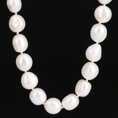 Single Strand Individually Knotted Endless Pearl Necklace