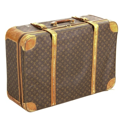 Louis Vuitton Stratos 80 Suitcase in Monogram Canvas and Leather