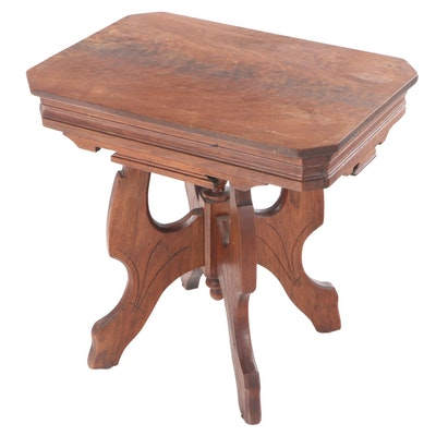 Victorian Eastlake Walnut Side Table, Late 19th/Early 20th Century