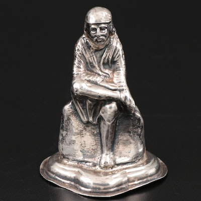 Sterling Silver Figurine of a Seated Man