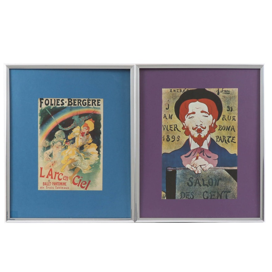 Offset Lithograph Posters after Jules Chéret and René Hermann-Paul