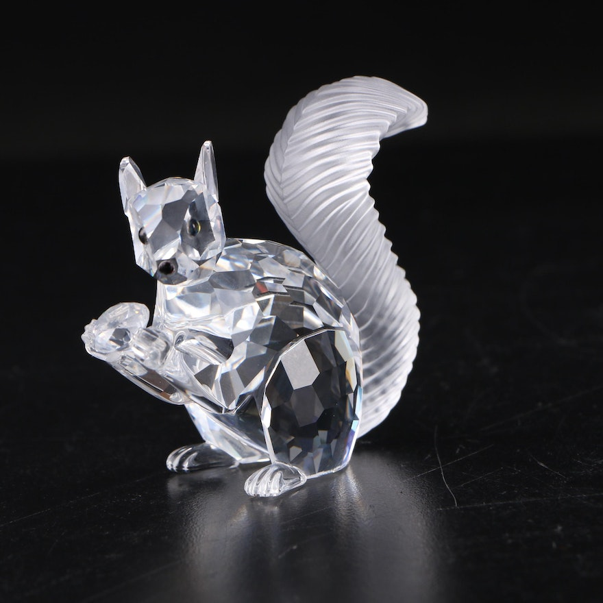 "Swarovski Crystal Society 10th Anniversary ""Squirrel"" Crystal Figurine with Case"