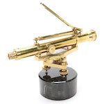Maitland-Smith Brass and Stone Surveyor's Sextant with Level and Compass