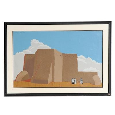 "Louis De Mayo Serigraph ""Strangers in Taos"""