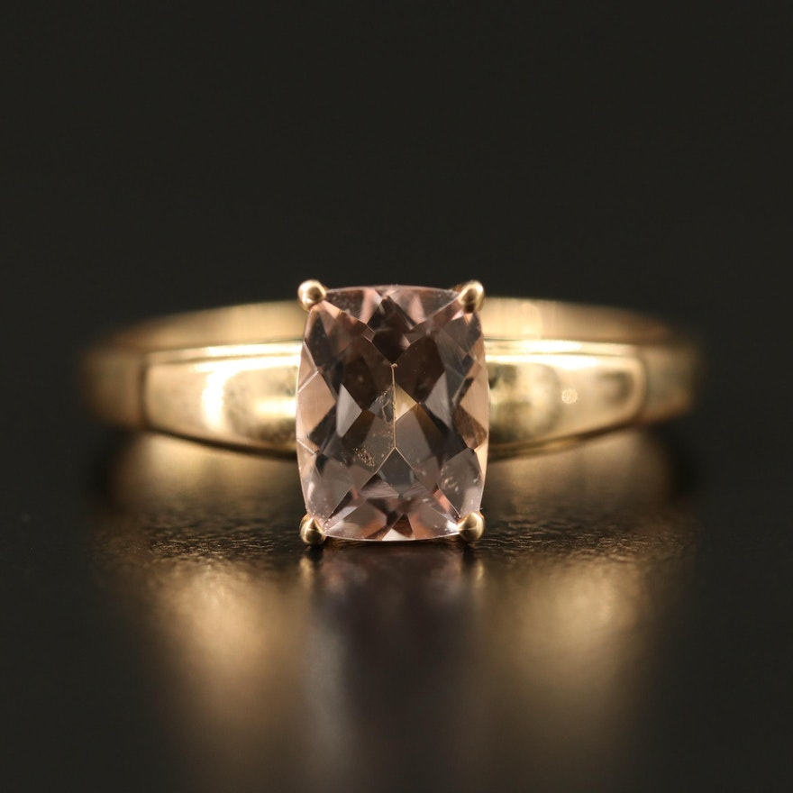 9K Gold Morganite Ring