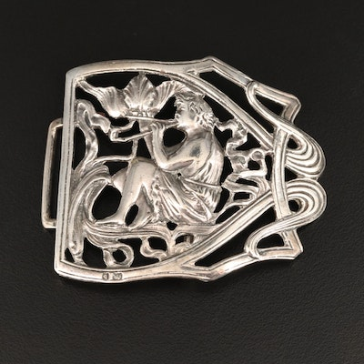 Sterling Silver Figural Buckle