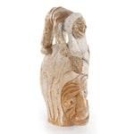 Cayuga Chief Jacob Ezra Thomas Carved Steatite Sculpture, 1981