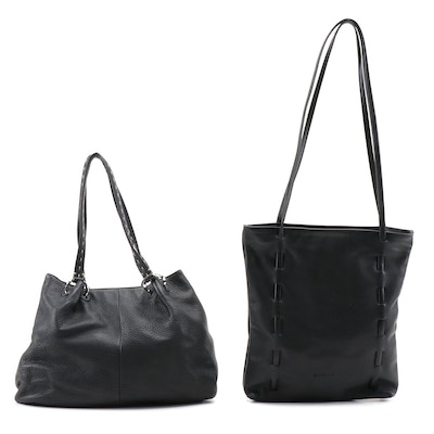 Gabbrielli and Sigrid Olsen Black Leather Tote and Shoulder Bags
