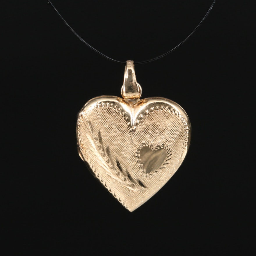 Vintage 14K Heart Locket