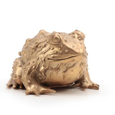 Karen Callan Brass Frog Paperweight