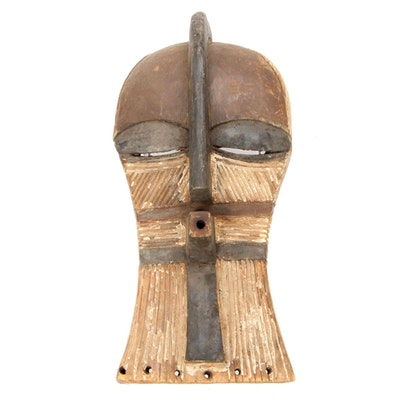 "Songye ""Kifwebe"" Style Wooden Mask, Democratic Republic of the Congo"