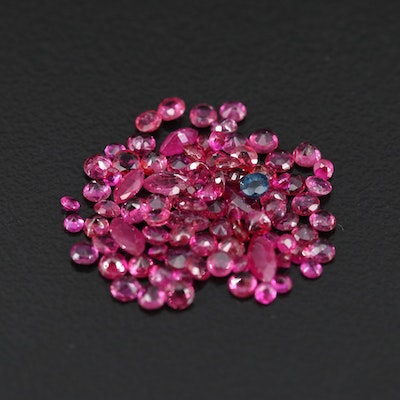 Loose 4.82 CTW Round and Marquise Faceted Rubies