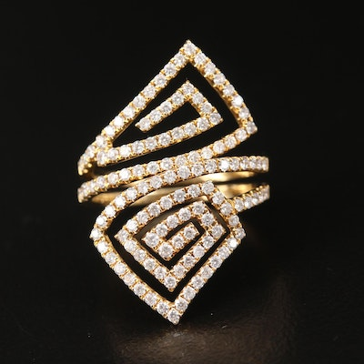 18K 1.03 CTW Diamond Openwork Ring