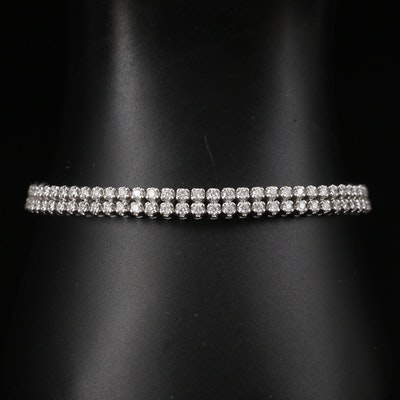 14K 3.06 CTW Diamond Double Row Bracelet