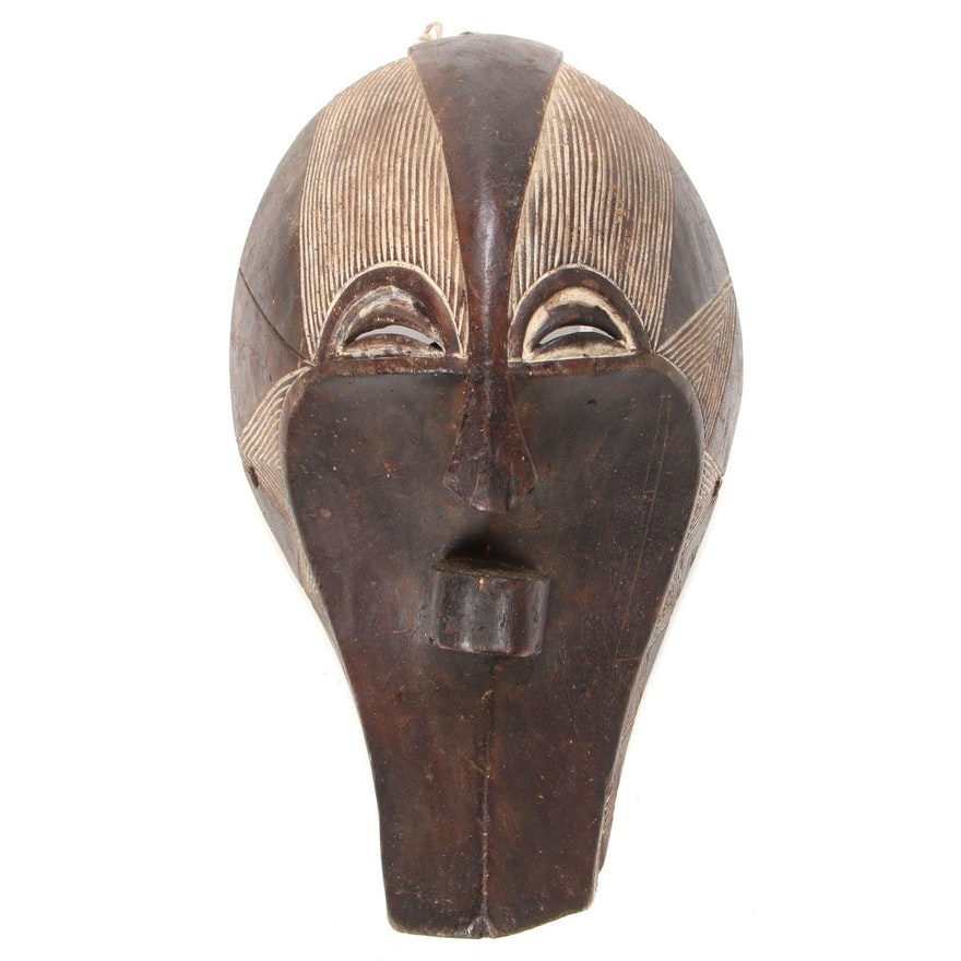 Songye Style Wooden Mask, Democratic Republic of the Congo