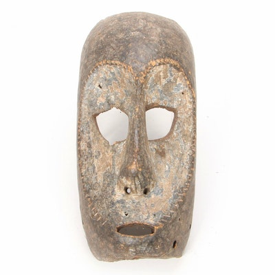 Mbaka Style Hand-Carved Wooden Mask, Central Africa