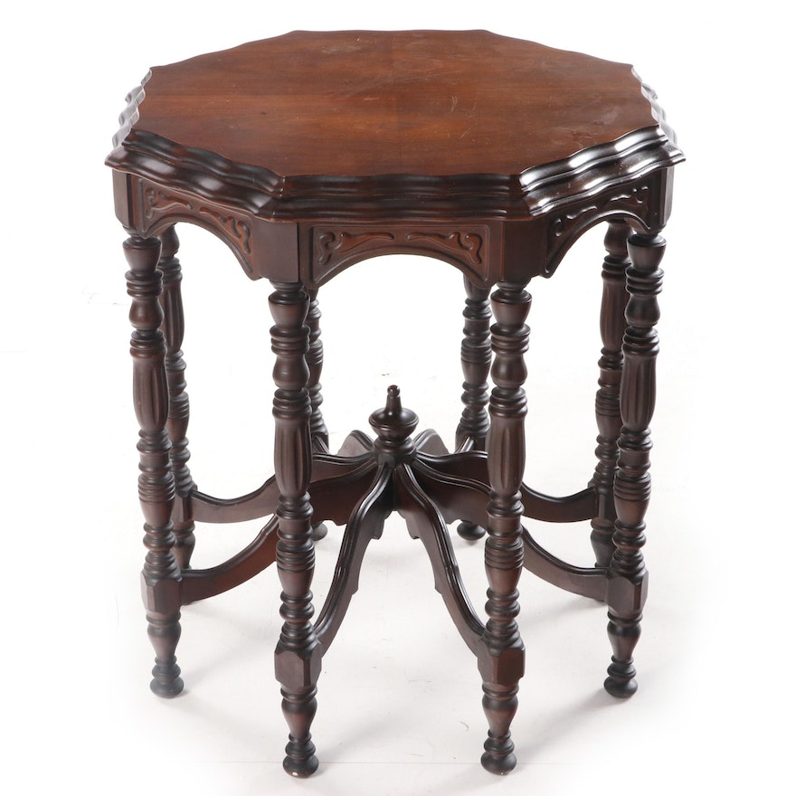 Jacobean Style Walnut Center Table, Early 20th Century