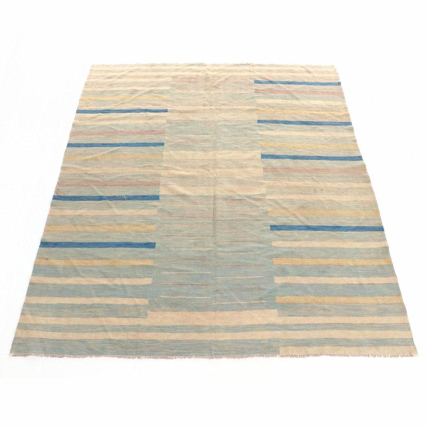 8' x 9'9 Handwoven Gabbeh Wool Area Rug