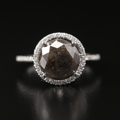 14K 3.31 Diamond Halo Ring