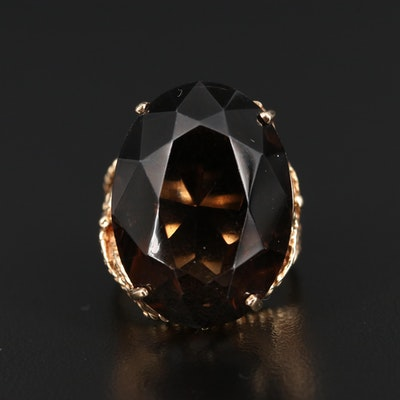 10K 33.77 CT Smoky Quartz Ring