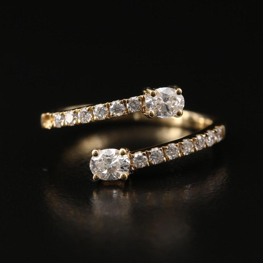 18K Diamond Wrap Ring